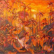 Картины и панно handmade. Livemaster - original item Oil painting abstract landscape 40/50