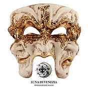 Одежда ручной работы. Ярмарка Мастеров - ручная работа Маска венецианская трехликая Trifaccia Bianco. Handmade.