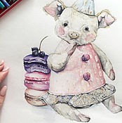 Картины и панно handmade. Livemaster - original item Baby pig (toy). Handmade.