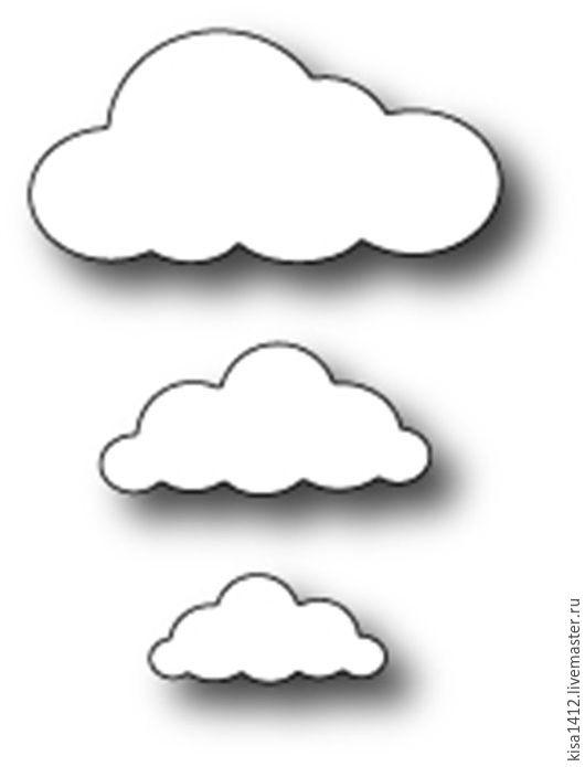 Открытки и скрапбукинг ручной работы. Ярмарка Мастеров - ручная работа. Купить Форма  98172  для Вырубки Puffy Clouds. Handmade. Скрапбукинг