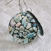 Украшения handmade. Livemaster - original item Sea pebbles Earrings transparent. Handmade.