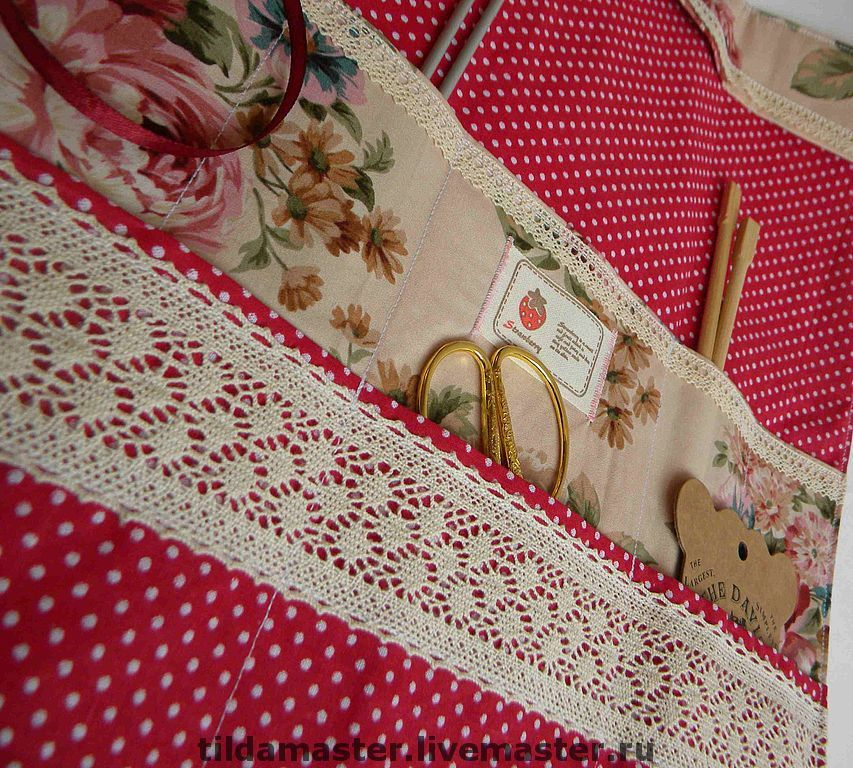 Organizers for Handiwork handmade. Livemaster - handmade. Buy Bag for needlework.Bag, cotton lace