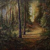 Картины и панно ручной работы. Ярмарка Мастеров - ручная работа Величие леса. Handmade.