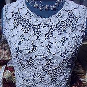 """Одежда ручной работы. Ярмарка Мастеров - ручная работа Топ """"Зимние цветы"""". Handmade."""