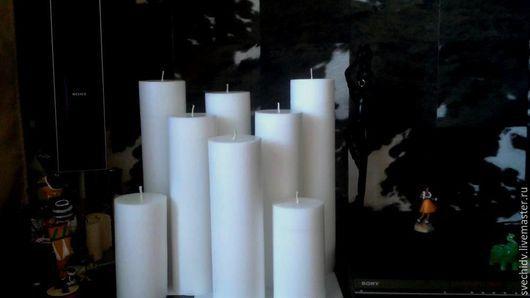 Подсвечники ручной работы. Ярмарка Мастеров - ручная работа. Купить Большие интерьерные свечи. Handmade. Разноцветный, интерьер, свадьба