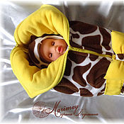 """Работы для детей, ручной работы. Ярмарка Мастеров - ручная работа Комплект на выписку """"Солнечный жирафик"""". Handmade."""