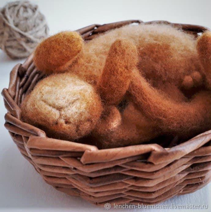 Ноябрьский кот, Войлочная игрушка, Санкт-Петербург,  Фото №1