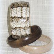 Украшения handmade. Livemaster - original item Beige womens wooden bracelets Eco. Boho eco rustic style macrame. Handmade.