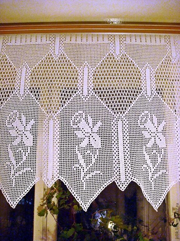 Curtain crochet Narcissus