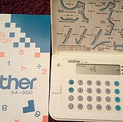 Материалы для творчества handmade. Livemaster - original item Calculator for the construction of the pattern. Brother KA-3000.. Handmade.
