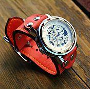 Украшения ручной работы. Ярмарка Мастеров - ручная работа Часы наручные Red Belts, женские наручные часы на кожаном браслете. Handmade.