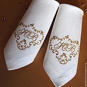 Для дома и интерьера ручной работы. Ярмарка Мастеров - ручная работа Вышитая круглая скатерть и салфетки с вышивкой СВАДЕБНЫЙ ВЕНЗЕЛЬ. Handmade.