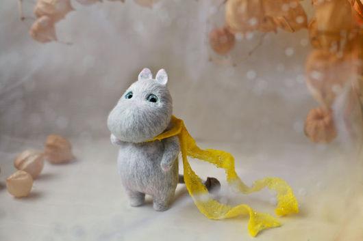 Игрушки животные, ручной работы. Ярмарка Мастеров - ручная работа. Купить Серый мумик. Handmade. Серый, муми-тролли, мумики