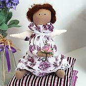 Куклы и игрушки ручной работы. Ярмарка Мастеров - ручная работа Малышка в сиреневом (маленькая принцесса тильда). Handmade.