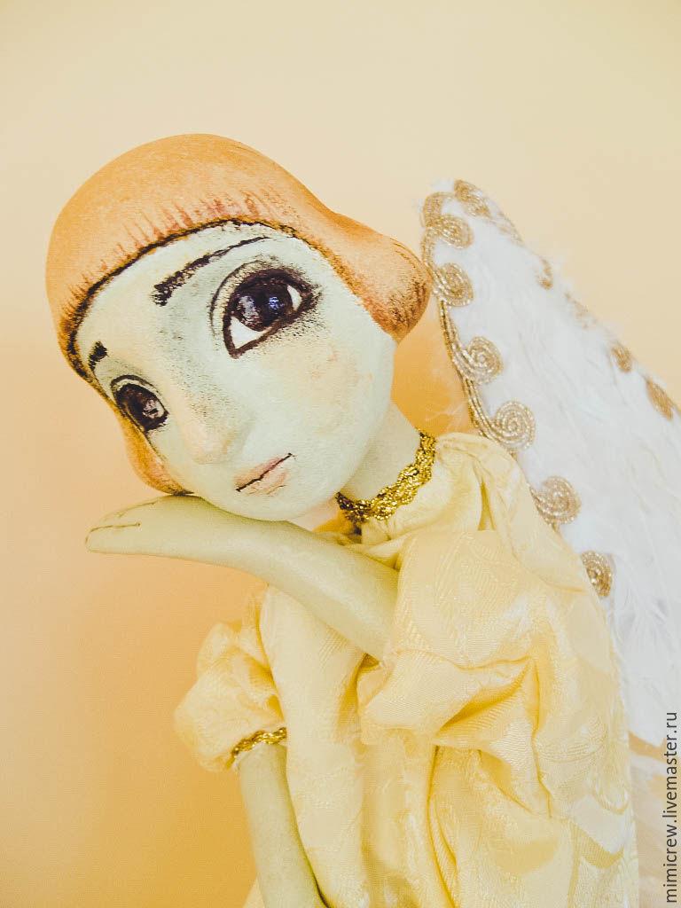 Кукольный театр ручной работы. Ярмарка Мастеров - ручная работа. Купить Желтый Ангел. Handmade. Новый Год, перчаточная кукла