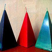 """Ритуальная свеча ручной работы. Ярмарка Мастеров - ручная работа Свеча """"Пирамида"""" восковая. Handmade."""