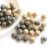 Материалы для творчества handmade. Livemaster - original item Beads Acrylic fiber antique star ball 10h12mm. Handmade.