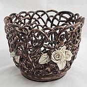Цветы и флористика handmade. Livemaster - original item Pots of Coffee and Chocolate. Handmade.