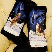 """Обувь ручной работы. Ярмарка Мастеров - ручная работа Валенки мужские """"волки"""". Handmade."""