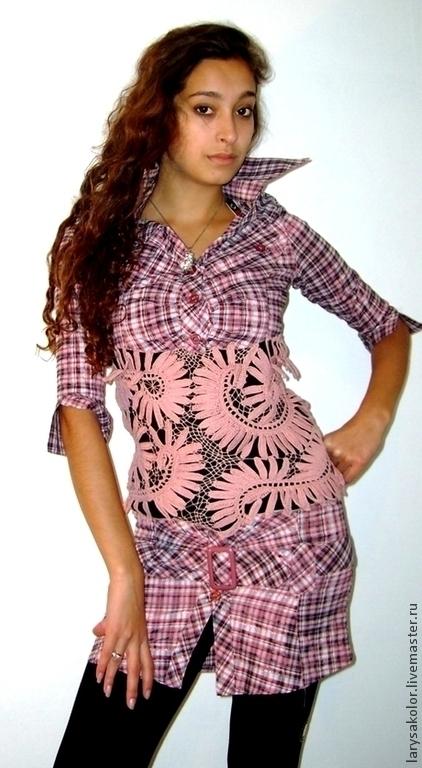 Платья ручной работы. Ярмарка Мастеров - ручная работа. Купить Платье-рубашка. Handmade. Платье, платье вязаное, платье летнее