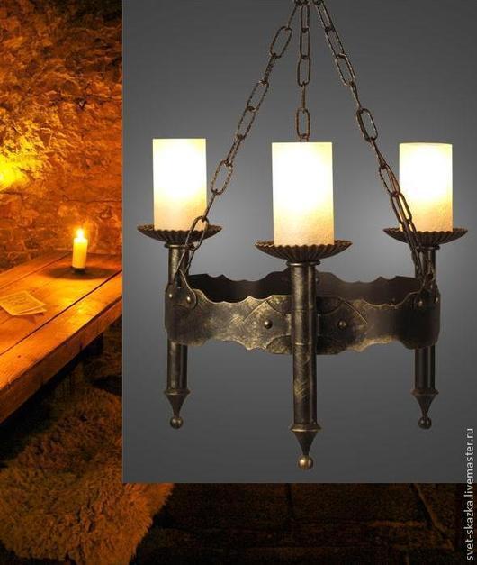 """Освещение ручной работы. Ярмарка Мастеров - ручная работа. Купить Люстра """"Амелия 240-93"""", 3 рожка (Русские фонари). Handmade."""