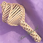 Куклы и игрушки ручной работы. Ярмарка Мастеров - ручная работа Погремушка плетеная с витой ручкой. Handmade.