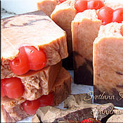 Косметика ручной работы. Ярмарка Мастеров - ручная работа Шелковое мыло Amore mio, натуральное, с нуля, с шоколадом. Handmade.