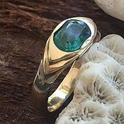 Украшения handmade. Livemaster - original item Women`s gold ring with Emerald (1,36 ct) handmade. Handmade.