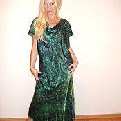 Одежда ручной работы. Ярмарка Мастеров - ручная работа платье по косой - Загадочный малахит. Handmade.