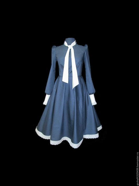 """Платья ручной работы. Ярмарка Мастеров - ручная работа. Купить Платье """"Камили"""" т синее Премиум в другой ткани. Handmade."""