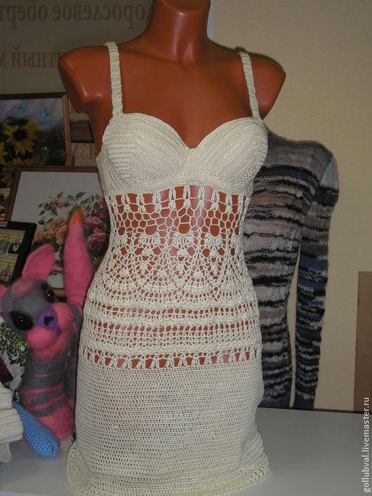 Платья ручной работы. Ярмарка Мастеров - ручная работа. Купить платье ландыш. Handmade. Белый, платье, платье вязаное