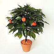 Цветы и флористика ручной работы. Ярмарка Мастеров - ручная работа Мандариновое дерево искусственное. Handmade.