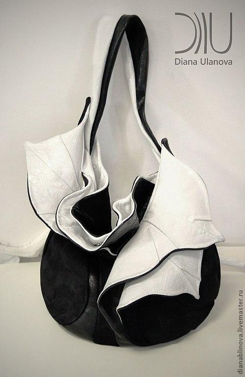 Женские сумки ручной работы. Ярмарка Мастеров - ручная работа. Купить Орхидея черно-белая. Handmade. Чёрно-белый