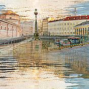 Картины и панно handmade. Livemaster - original item Picture of Saint Petersburg, a photo, a Theatrical city bridge. Handmade.
