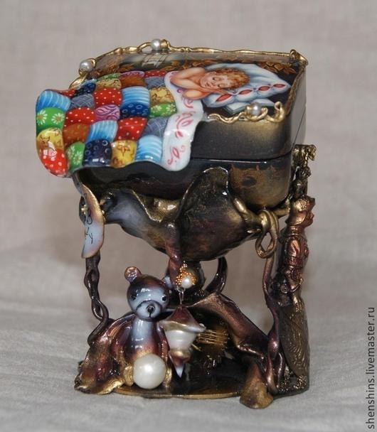 """Шкатулки ручной работы. Ярмарка Мастеров - ручная работа. Купить шкатулка """"Колыбельная""""продана. Handmade. Сон, перламутр натуральный"""