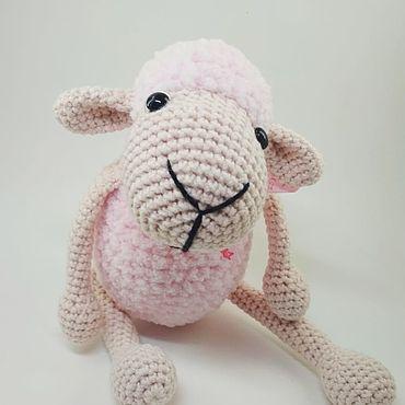 Куклы и игрушки ручной работы. Ярмарка Мастеров - ручная работа Плюшевая овечка. Handmade.