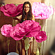 Свадебные цветы ручной работы. Ярмарка Мастеров - ручная работа. Купить Цветок из бумаги стоящий на полу большого размера. Handmade.
