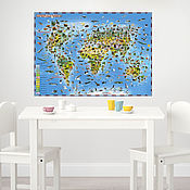 Для дома и интерьера handmade. Livemaster - original item Vinyl wall sticker - world Map. Glows in the dark.. Handmade.