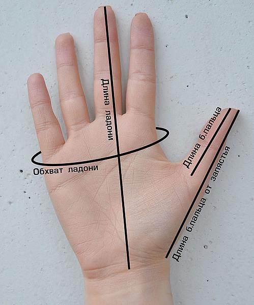 размеры, мерки, варежки, размер перчаток