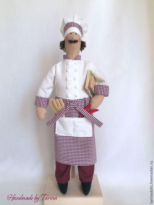 Куклы Тильды ручной работы. Ярмарка Мастеров - ручная работа. Купить Текстильная кукла  в стиле Тильда - Шеф-повар. Handmade.