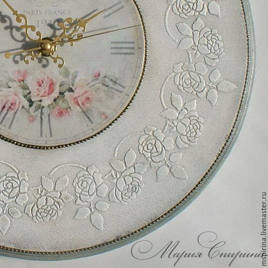 часы настенные, часы круглые, купить часы, часы шебби, часы прованс, часы винтаж, интерьер винтаж, часы для дачи, часы для загородного дома, стиль прованс, стиль винтаж, shabby shic, часы интерьерные