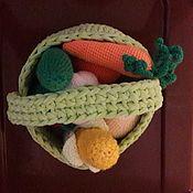 Мини растения, цветы ручной работы. Ярмарка Мастеров - ручная работа Мини растения, цветы: Фруктово-овощная корзина. Handmade.