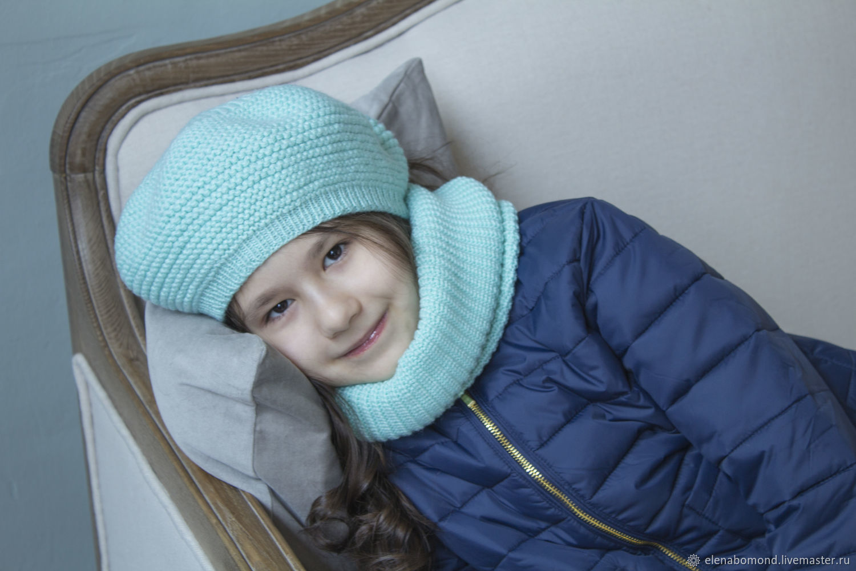 Kit beret Snood mint color, Berets, Krasnoyarsk,  Фото №1