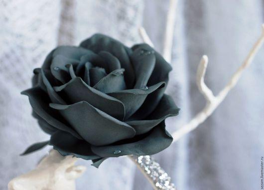 """Браслеты ручной работы. Ярмарка Мастеров - ручная работа. Купить Браслет с розой """"Серый Жако"""". Handmade. Серый, браслет с цветами"""