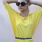 Одежда ручной работы. Ярмарка Мастеров - ручная работа Блуза трикотажная  желтая. Handmade.