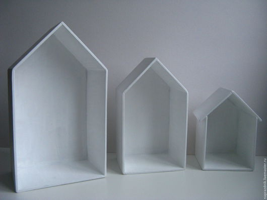 """Детская ручной работы. Ярмарка Мастеров - ручная работа. Купить Полки домики из фанеры """"Мы в домике..."""". Handmade. Белый"""