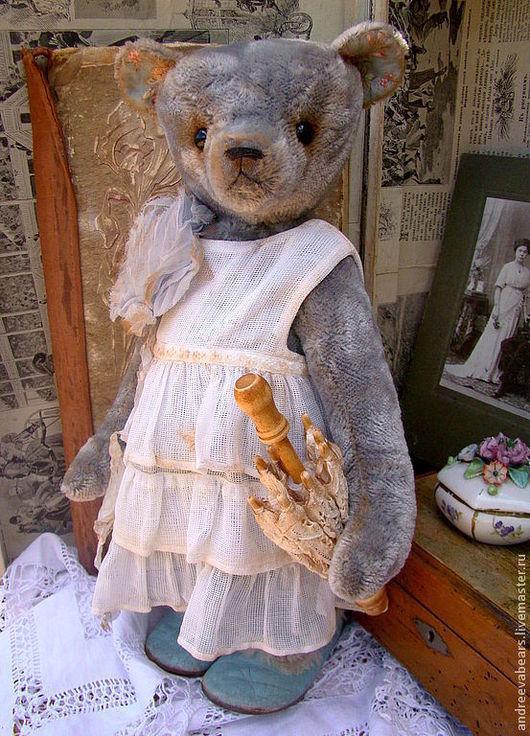 """Мишки Тедди ручной работы. Ярмарка Мастеров - ручная работа. Купить """"Софи""""- мишка с чердака. Handmade. Голубой, шебби"""