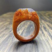 Украшения ручной работы. Ярмарка Мастеров - ручная работа Деревянное кольцо 15,5 размер, кольцо из дерева. Handmade.
