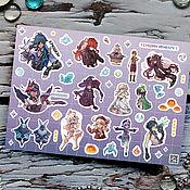 Материалы для творчества handmade. Livemaster - original item Stickers stickers Genshin Genshin impact conserva game. Handmade.