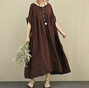 Одежда handmade. Livemaster - original item Dark purple dress is ultra-freely. Handmade.